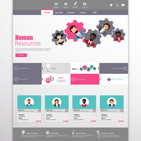 35774544 - flat website template vector design