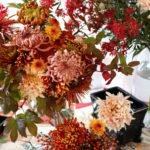 秋色和風菊ブーケ 色彩の表現のコツ【教室開業・集客講座|横浜東京】